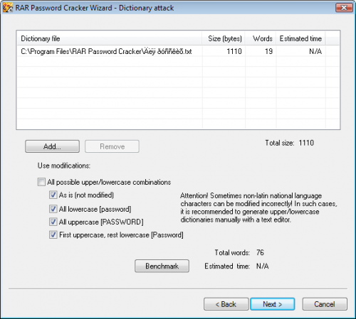 RAR Password Cracker 4.12 � Descarregar, Download, Baixar 4.12