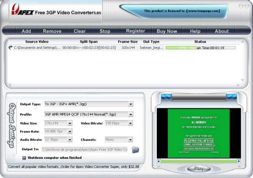 Free 3GP Video Converter 3.2.2.57 � Descarregar, Download, Baixar 3.2.2.57