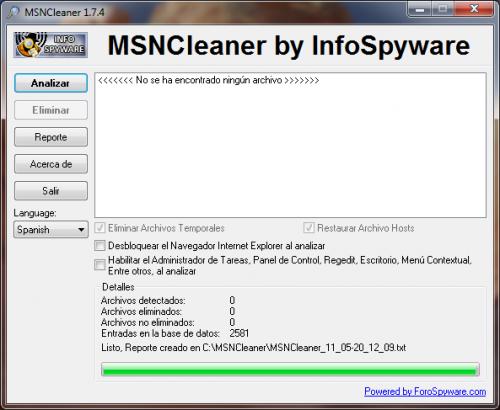 MSNCleaner 1.7.5 � Descarregar, Download, Baixar 1.7.5