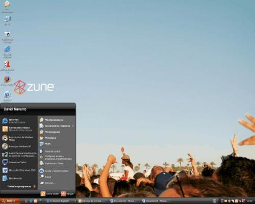 Microsoft Zune Theme for Windows XP