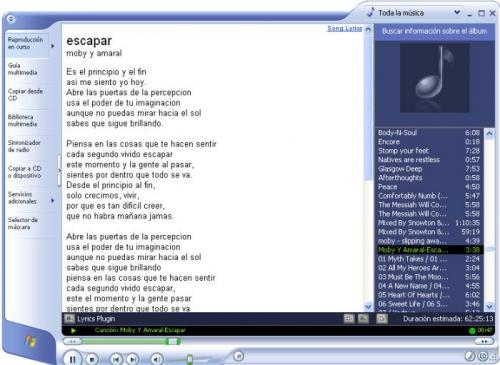 Lyrics Plugin for Windows Media Player 0.3  � Download, baixar 0.3