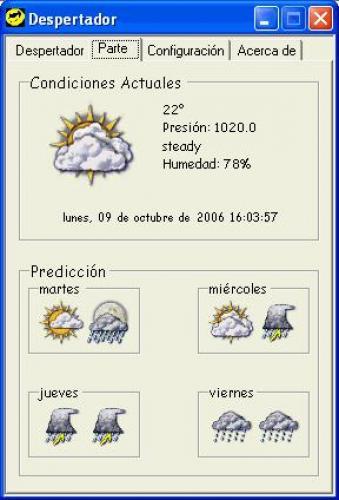 Despertador Meteorologico