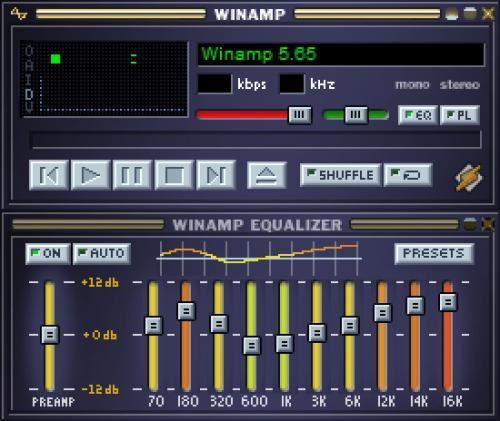 Winamp Media Player 11 Skin