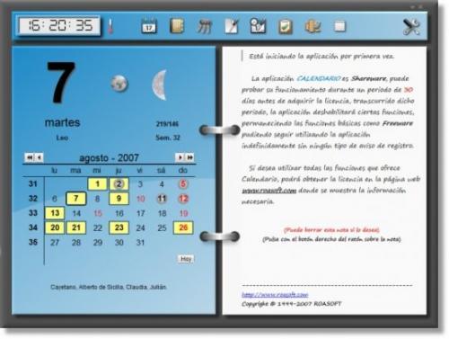 Roasoft Calendario