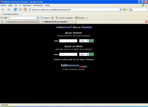 AddInternet Buscar Dominio