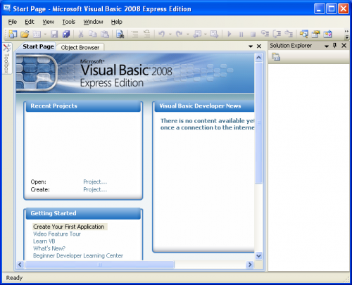 Microsoft Visual Basic 2008 Express