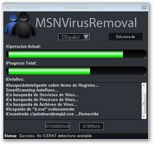 MSN Virus Remover 4.40 � Descarregar, Download, Baixar 4.40