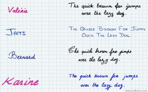 17 handwriting fonts