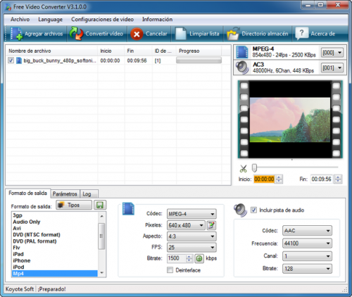 Koyote Free Video Converter � Download 3.0