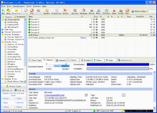 BitComet 1.22 � Descarregar, Download, Baixar 1.22